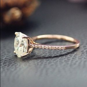 Jewelry - 2 CT Oval Moissanite Engagement Ring Rose Gold